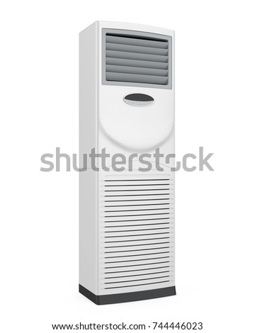 Floor Standing Air Conditioner Isolated. 3D rendering