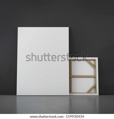 Floor standing two frames - stock photo