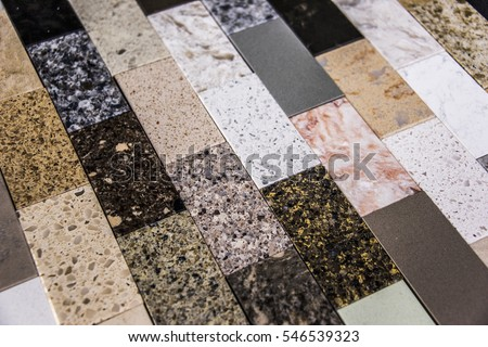 Floor Tile Samples Made Granite Marble Stock Photo 546539323