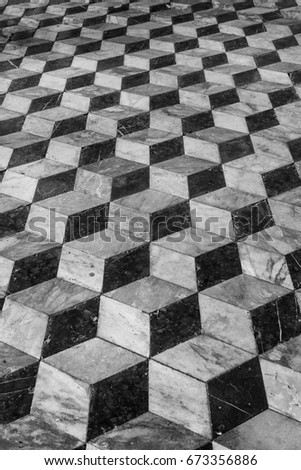 Floor Tiles Background D Effect Vintage Stock Photo Royalty Free - 3 dimensional floors