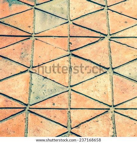 Floor tiles outdoor with vintage color tone - stock photo