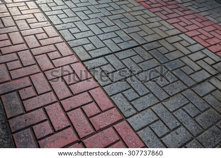 Floor tiles texture with nature light - stock photo