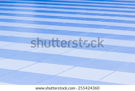 Floor tiles� There are white and blue. - stock photo
