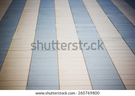 Floor tiles ��� There are white and blue. - stock photo