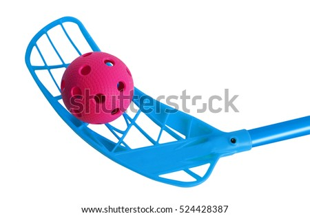 Floorball stick and ball