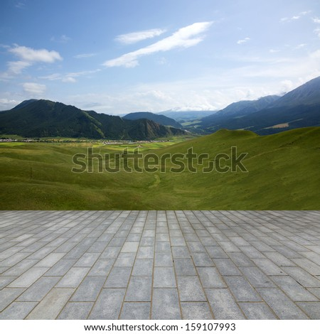 Flooring and landscape