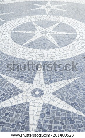 Floors with stars and stones, construction and architecture
