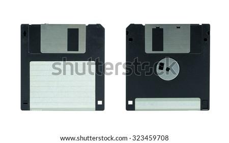 Floppy Disk. isolated on white background - stock photo