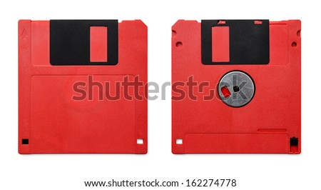 Floppy Disk magnetic computer data storage support - stock photo