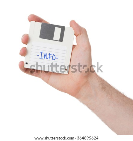 Floppy Disk - Tachnology from the past, isolated on white - Info