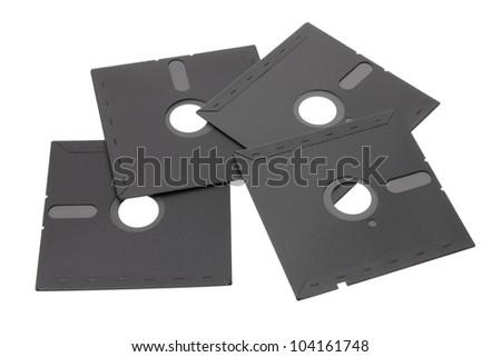 Floppy Disks on White Background - stock photo