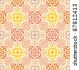 Floral abstract background, seamless repeat pattern - stock photo