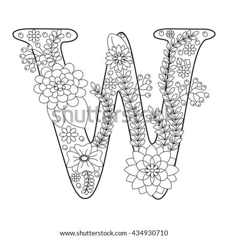 Raster Illustration Love Inscription Coloring Antistress