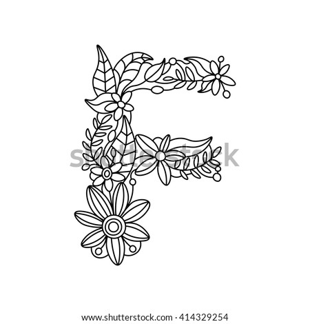 Floral Letters Coloring : 489 best printable art coloring pages images on pinterest