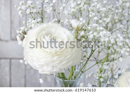 Floral arrangement ranunculus flowers white gypsophila stock photo floral arrangement with ranunculus flowers and white gypsophila paniculata mightylinksfo