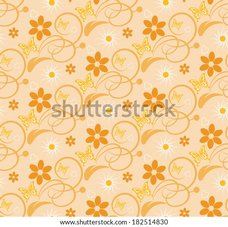 floral background seamless pattern wallpaper