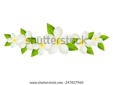 Floral border for Your design - stock photo