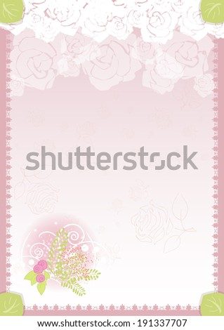 floral congratulation greeting template diploma vertical portrait raster version