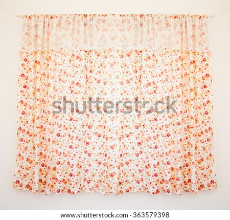 floral curtain - stock photo