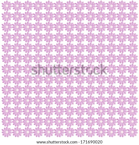Floral daisy pattern with purple daisies./Floral daisy pattern - stock photo