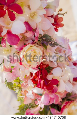 Floral decoration in weddings right post