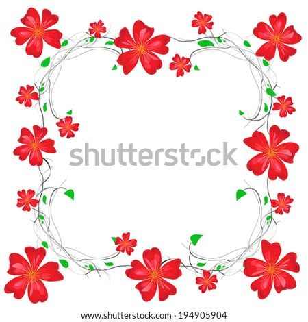 floral decorative frame - stock photo