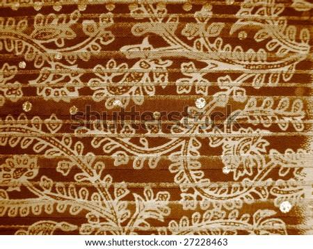 Floral Design in Sepia - stock photo
