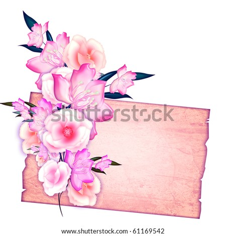 Floral frame for a romantic greeting card, photo or invitation.