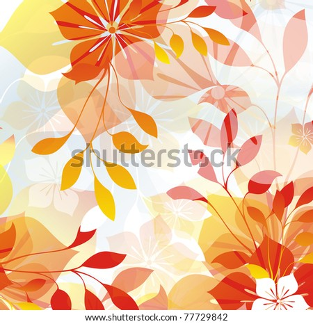 Floral illustration - stock photo