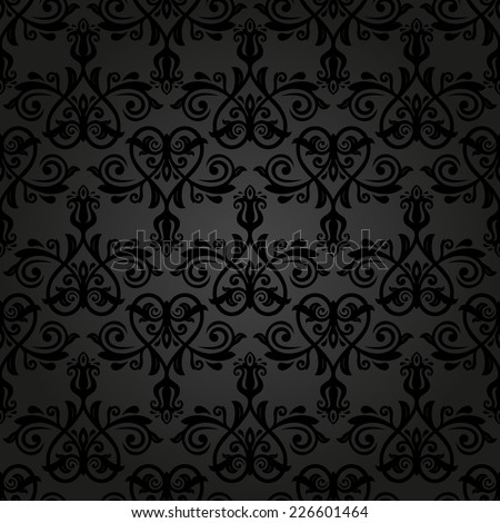 Floral  oriental pattern with damask, arabesque and floral elements. Seamless abstract wallpaper and background