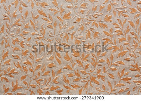 floral ornament textile pattern - stock photo