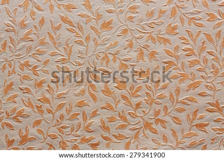 floral ornament textile pattern - stock photo