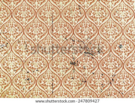 Floral Pattern Material Background Texture Wall Concept