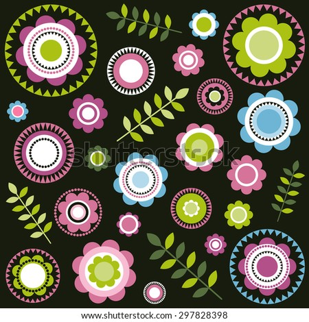 floral pattern. Raster version - stock photo