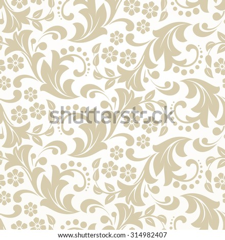 Floral pattern. Wallpaper baroque, damask. Seamless  background