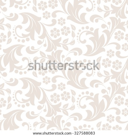 Floral pattern. Wallpaper baroque, damask. Seamless background.