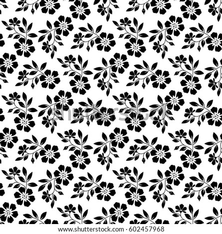 Black white flower flower drawing free vector download