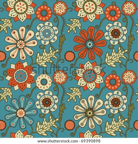Floral seamless pattern. - stock photo