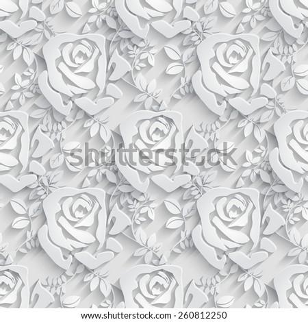 Floral  Seamless Pattern Background. Raster version. - stock photo
