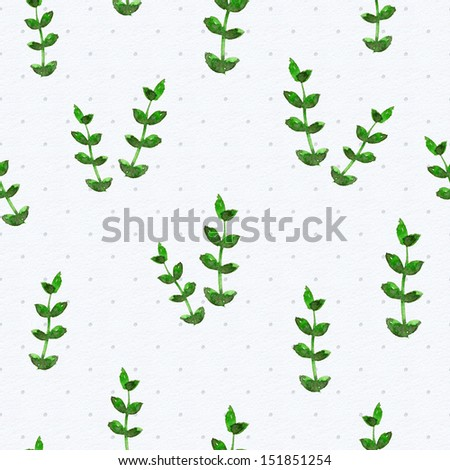 floral seamless texture of watercolor - stock photo