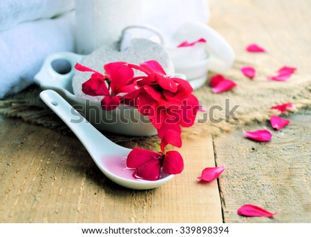 floral spa,natural product - stock photo