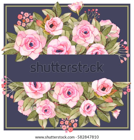 Frame Roses Squared Vintage Stock Images, Royalty-Free Images ...