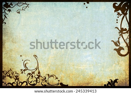 floral style textures and backgrounds frame with space