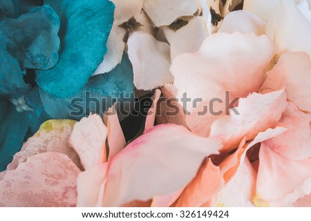Floral wallpaper, background from flower petals - stock photo