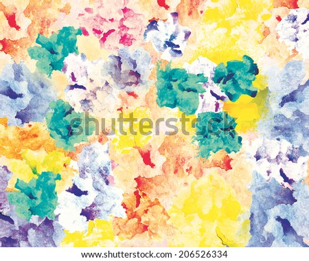 Floral watercolor textured abstract background, hand made drawing. Suitable for various designs and scrapbooking