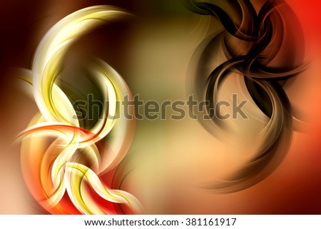 Floral Wave Design Background