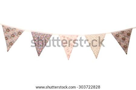floral wedding bunting studio cutout - stock photo