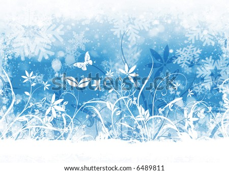 Floral winter abstract