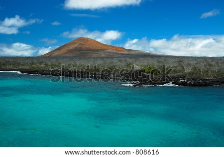 Floreana Island in the Galapagos Islands - stock photo