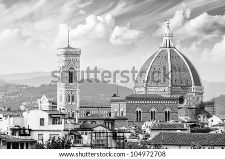 Florence Architectural Detail in Tuscany, Italy - stock photo